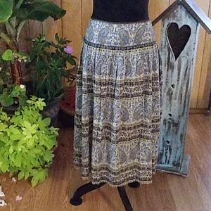 JONES NEW YORK PAISLEY SKIRT SZ PL
